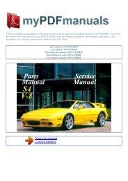 User manual LOTUS ESPRIT - MY PDF MANUALS