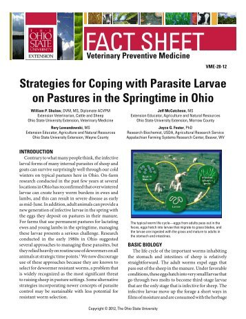 Strategies for Coping with Parasite Larvae on Pastures in the ...