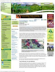 Growing Magazine - Juneberries - February, 2012 - NORTH ...
