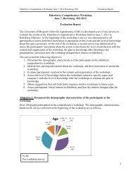 Elderberry Comprehensive Workshop Report - 2012