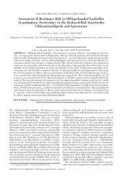 Assessment of Resistance Risk in Obliquebanded Leafroller - BioOne