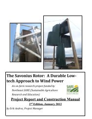 The Savonius Rotor - Sustainable Agriculture Research and Education