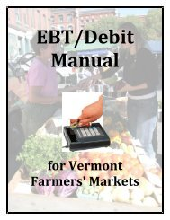 Debit/EBT Manual for Vermont Farmers' Markets - Sustainable ...