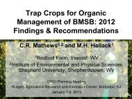 Document : Presentation: Organic Research and Extension Initiative
