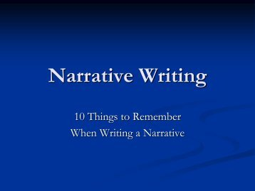 Narrative Writing.pdf - Cherokee County Schools
