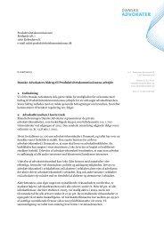 Danske Advokaters - Produktivitetskommissionen