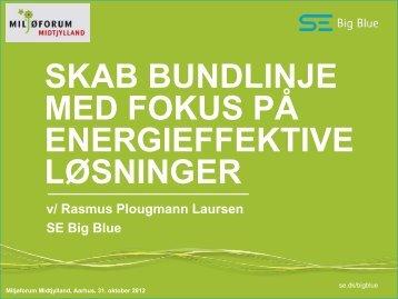 Underdirektør Rasmus Plougmann, SE Big Blue - Miljøforum ...