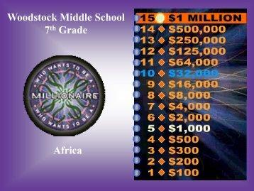 Africa millionaire - Cherokee County Schools