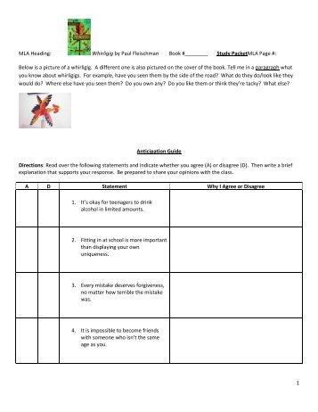 whirligig packet - Cherokee County Schools