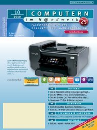 4. – 6. November 2010 - Computern im Handwerk