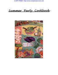 Summer Party Cookbook - myteacup