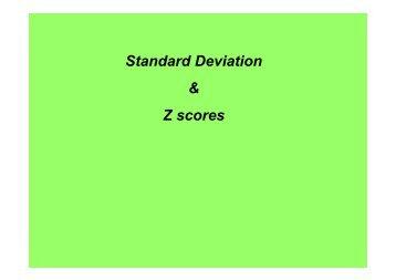 Standard Deviation & Z scores