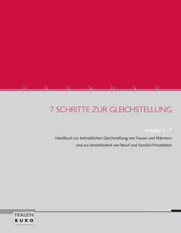 7 SCHRITTE ZUR GLEICHSTELLUNG
