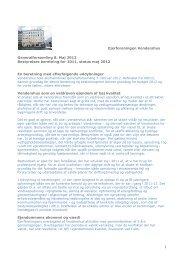 Beretning 2011 og status 2012 bestyrelsen Vendershus ... - Prosedo