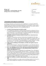 1. Bestemmelser af betydning for kvotetildelingen Lovforslaget ...