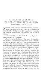 Beretning og driftsregnskab for Venneselskabet - Handels- og ...