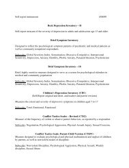 Self report instruments 1/08/09 Beck Depression Inventory – II Self ...