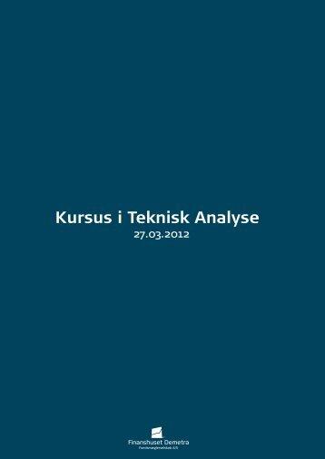 Kursus i Teknisk Analyse - Finanshuset Demetra ...