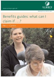 What can I claim guide - Surrey County Council