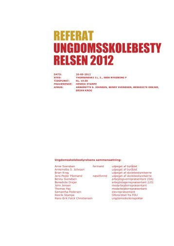 260912 - Guldborgsund Ungdomsskole