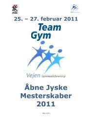 Åbne Jyske Mesterskaber 2011 - Danmarks Gymnastik Forbund