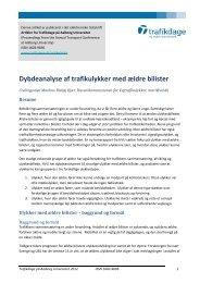 Dybdeanalyse af ulykker med ældre bilister - Trafikdage.dk