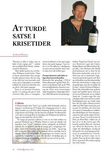 AT TURDE SATSE I KRISETIDER - Philipson Wine