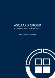 Årsrapport 2007/2008 - ASGAARD GROUP A/S