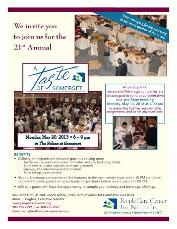 We invite you to join us for the 21st Annual