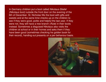 In Germany children put a boot called Nikolaus-Stiefel (Nikolaus ...