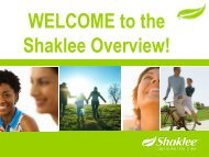 The Shaklee Overview!