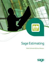 Read the Sage Estimating Product Overview