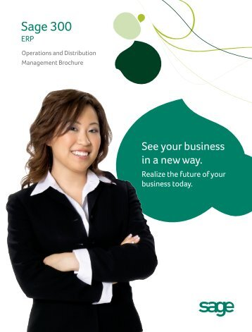 Sage 300 ERP Operations and Distribution Brochure