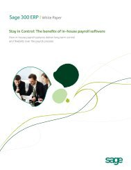 How in-house payroll systems deliver long-term - Sage