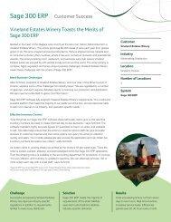 Vineland Estates Winery Toasts the Merits of Sage 300 ERP
