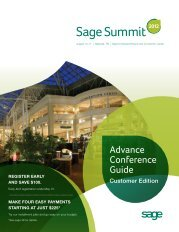 Advance Conference Guide - Sage