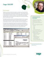Fixed Assets - Sage