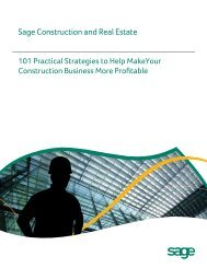 101 Practical Strategies to Help Make Your Construction ... - Sage