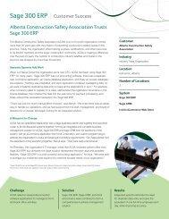 Sage 300 ERP I Customer Success Alberta Construction Safety ...