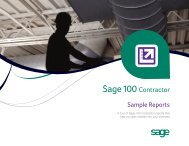Sample Reports - Sage