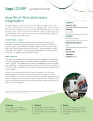 Ready Mix USA Finds a Solid Solution in Sage 500 ERP