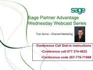 Sage Partner Advantage Wednesday Webcast Series