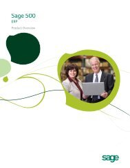 Sage 500 ERP I Overview