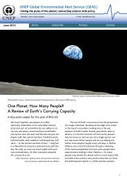 One Planet, How Many People? - UNEP/GRID-Sioux Falls