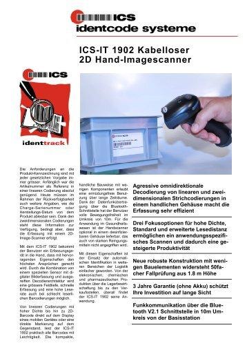 ICS-IT 1902 Kabelloser 2D Hand-Imagescanner - ICS Identcode ...