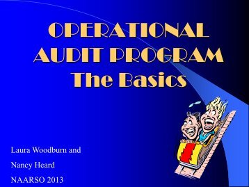 Operational Audit Program Basics 2013 - Naarso.com