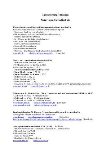 Bildungsmaterial für Natur- und Umweltschutz - NABU Neuss