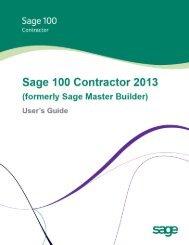 Sage 100 Contractor Sage 100 Contractor