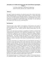 Dynamics of a Tethered System near the Earth-Moon Lagrangian ...