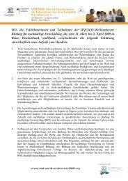 Bonner Erklärung - Bildung für nachhaltige Entwicklung